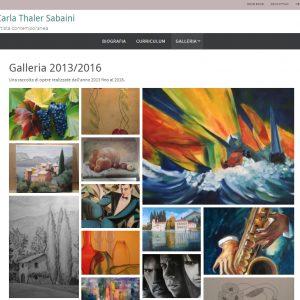 Il sito web dell'artista Carla Thaler Sabaini - Galleria