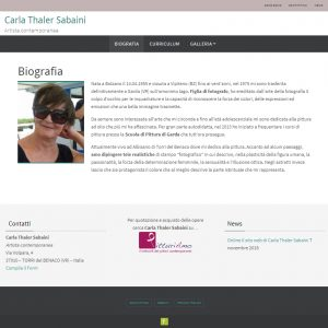 Il sito web dell'artista Carla Thaler Sabaini - Biografia