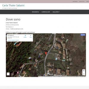 Il sito web dell'artista Carla Thaler Sabaini - Dove sono