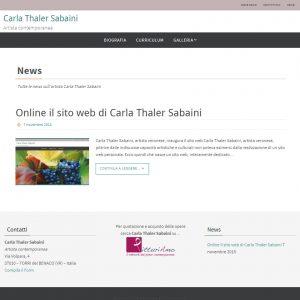 Il sito web dell'artista Carla Thaler Sabaini - News