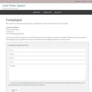 Il sito web dell'artista Carla Thaler Sabaini - Contatti