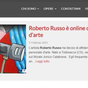 Il sitoweb del pittore Roberto Russo - News
