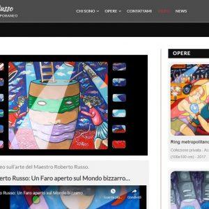 Il sitoweb del pittore Roberto Russo - Video