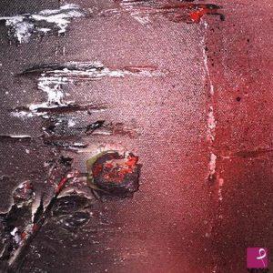 Stand-By - Acrilico, rosa secca, stucco su tela - 20x20cm