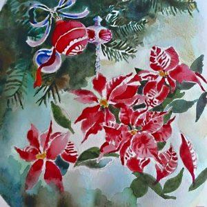 Stelle di Natale - Acquerelli - 10x10cm