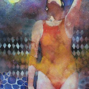 Swimmer - Acquerelli su carta - 30x40cm