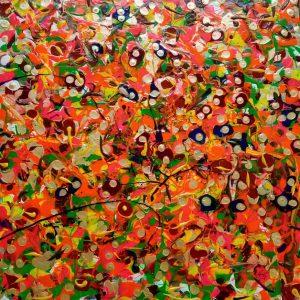 Un sogno di colori - Acrilico su tela - 50x50cm