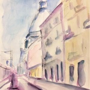 Via Montebello - Acquerello - 40x50cm