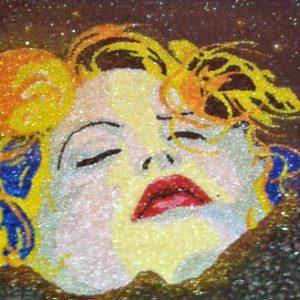 Volto di donna (tra monti e cielo) - Mosaico - 105x43cm