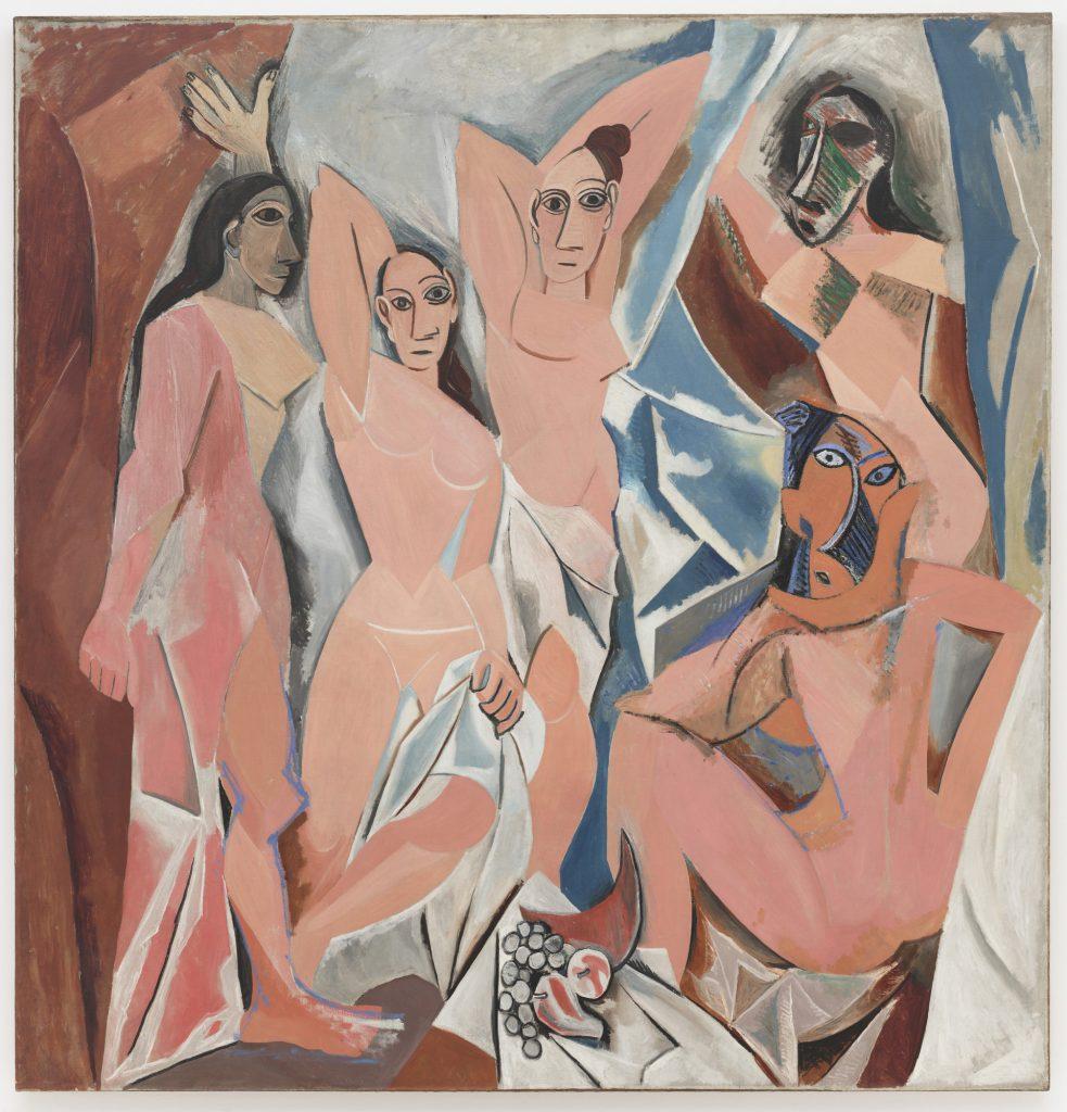 les demoiselles d'Avignon di Pablo Picasso precursore del Cubismo