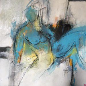 truffe per artisti. Acrilico e olio su tela di Patrizia Simonetta in vendita online