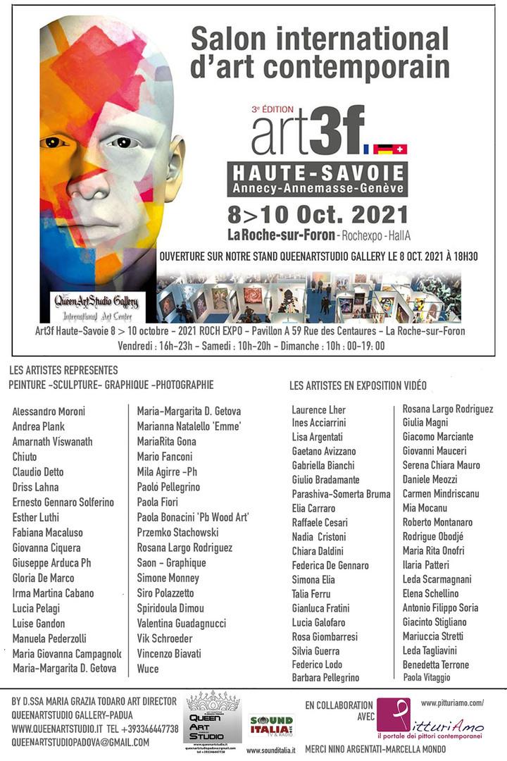 Locandina della Fiera Internazionale Art3F, con PitturiAmo e QueenArtStudio