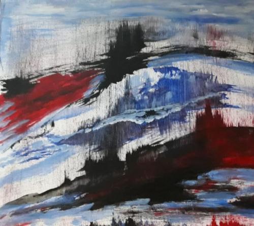 Anna Gubellini - Paesaggi prospettici - acrilico su tela - 50x40 cm