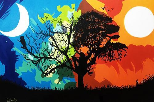 Lisa Argentati - Giorno-e-Notte - Olio su Tela - 120x80