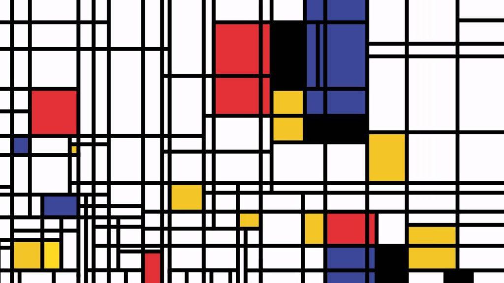 Quadro astrattismo di Piet Mondrian