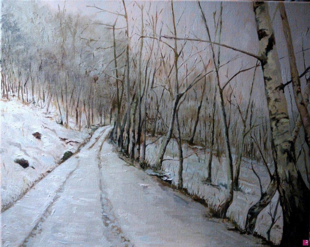 Come fotografare un quadro - vendita online quadro paesaggio invernale