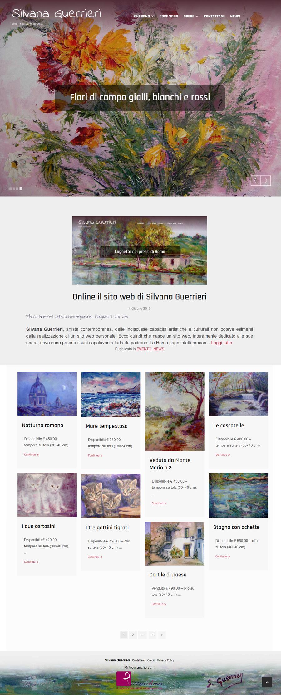 Il sito d'artista di Silvana Guerrieri - Homepage